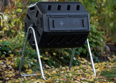 The Yimby Compost tumbler is a great composter for beginners.