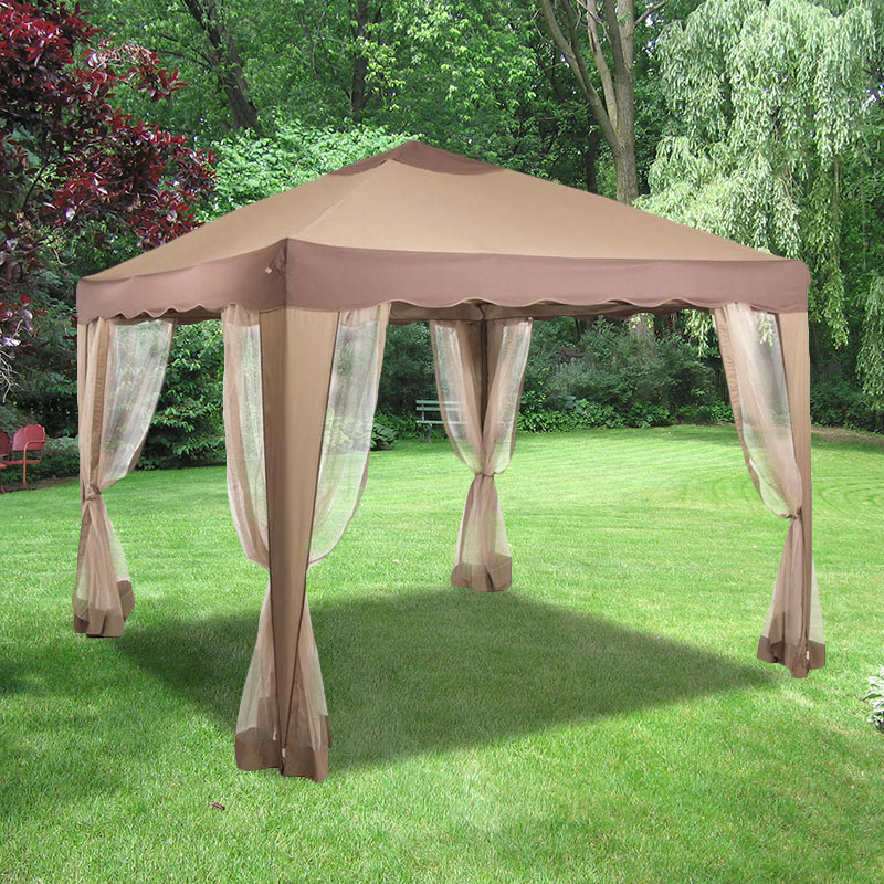10x10 Portable Gazebo Replacement Canopy And Netting