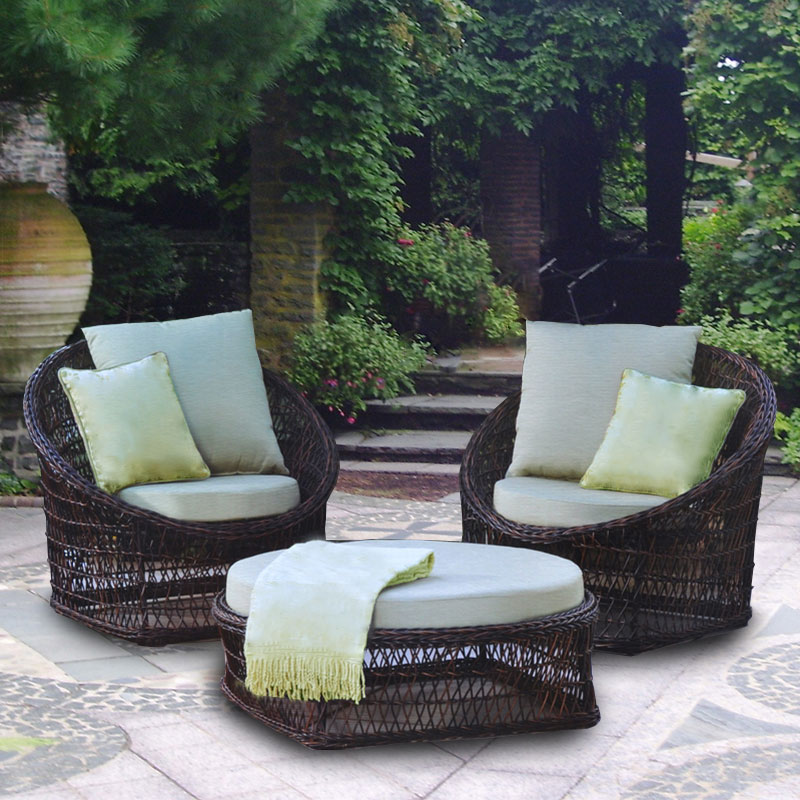 costco 3 wicker replacement cushion set garden winds on 3 Piece Patio Cushion Set id=31426