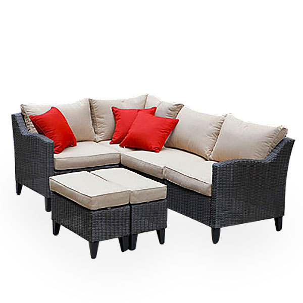 Replacement Cushions for Key Largo Seating Set Garden Winds on Outdoor Sectional Big Lots id=86956