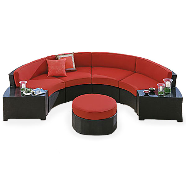 Replacement Cushions for Melrose Sectional Garden Winds on Outdoor Sectional Big Lots id=97543