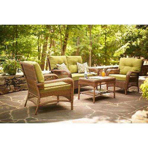 Charlottetown Loveseat Replacement Cushion Set Garden Winds - Lowe's Patio Cushions