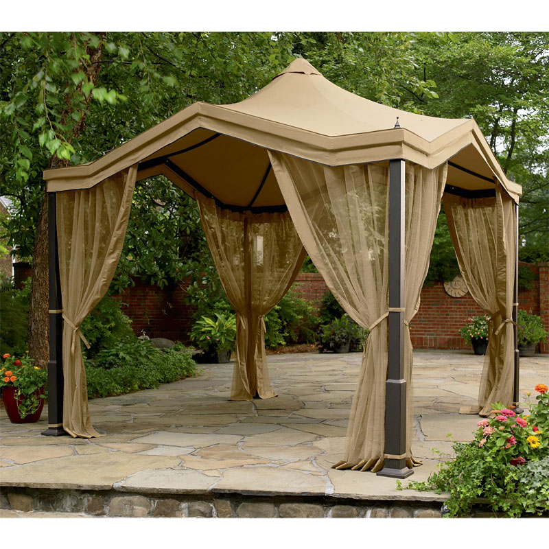 Peaked Top Gazebo Replacement Canopy Garden Winds