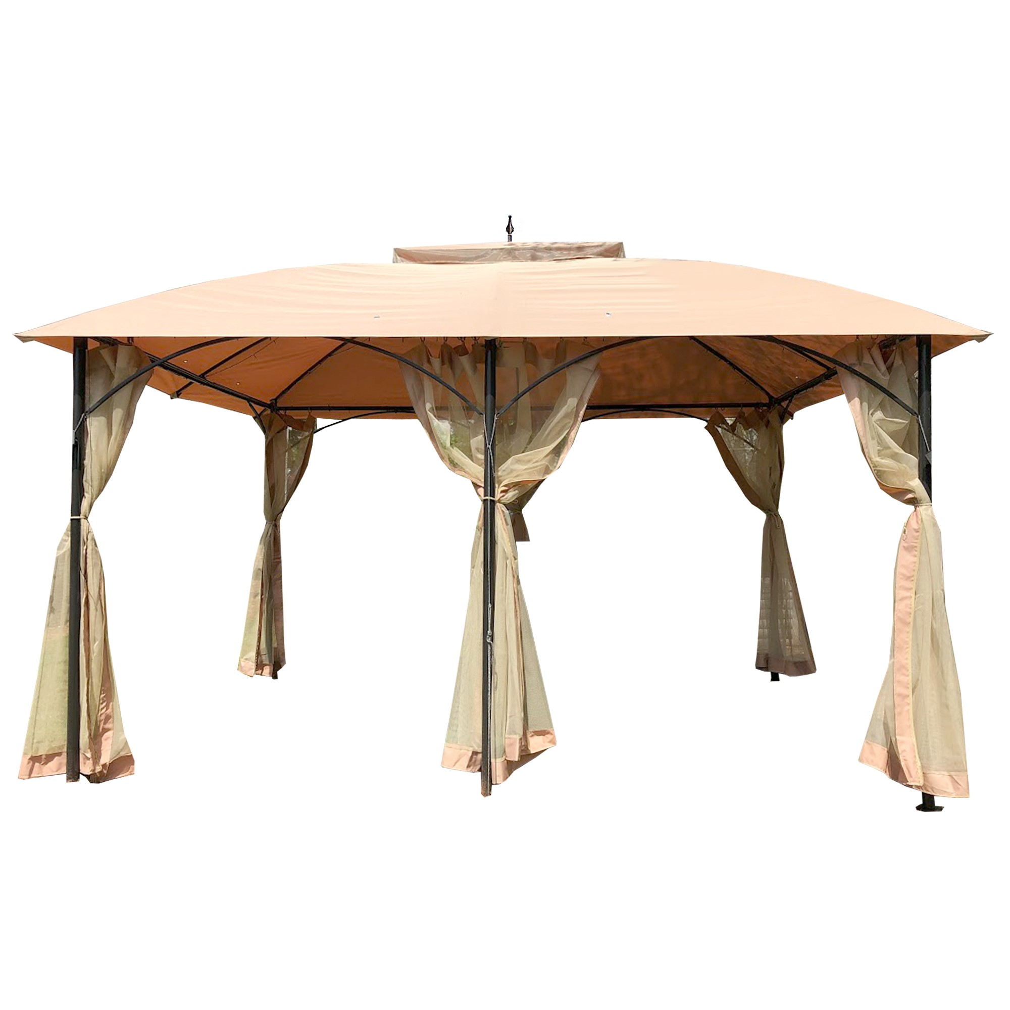 Replacement Canopy And Netting Set For Six Post Gazebo