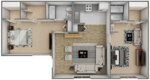 2 Bed / 2 Bath / 1000 ft² / Availability: Please Call / Deposit: $300