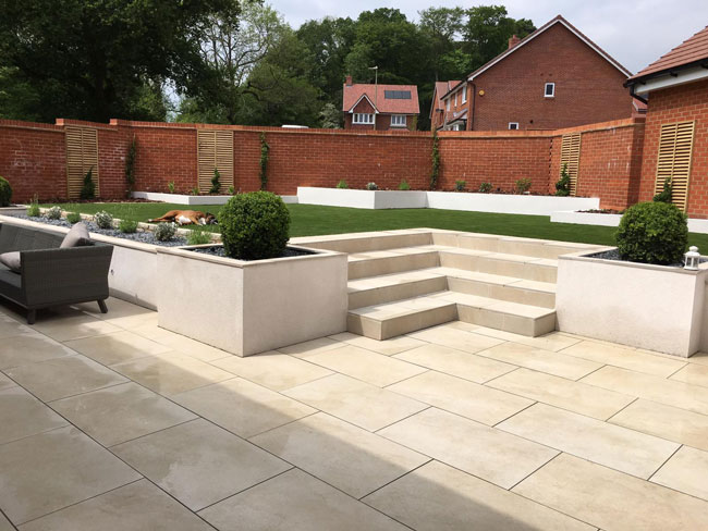porcelain patio tile pack 23 04m2 h s beige 600mm x 600mm gardiners reclaimed building materials