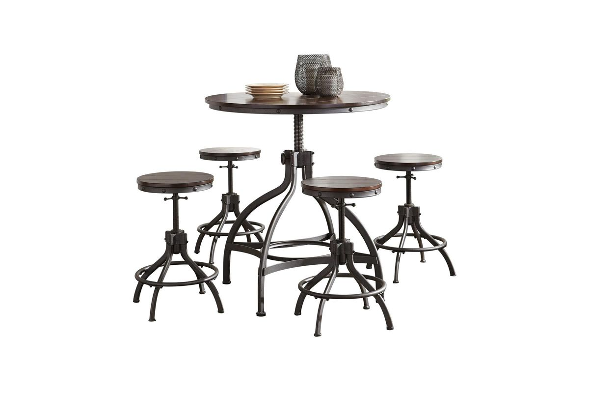 Odium Dining Room Counter Table Set Set Of 5 By Ashley