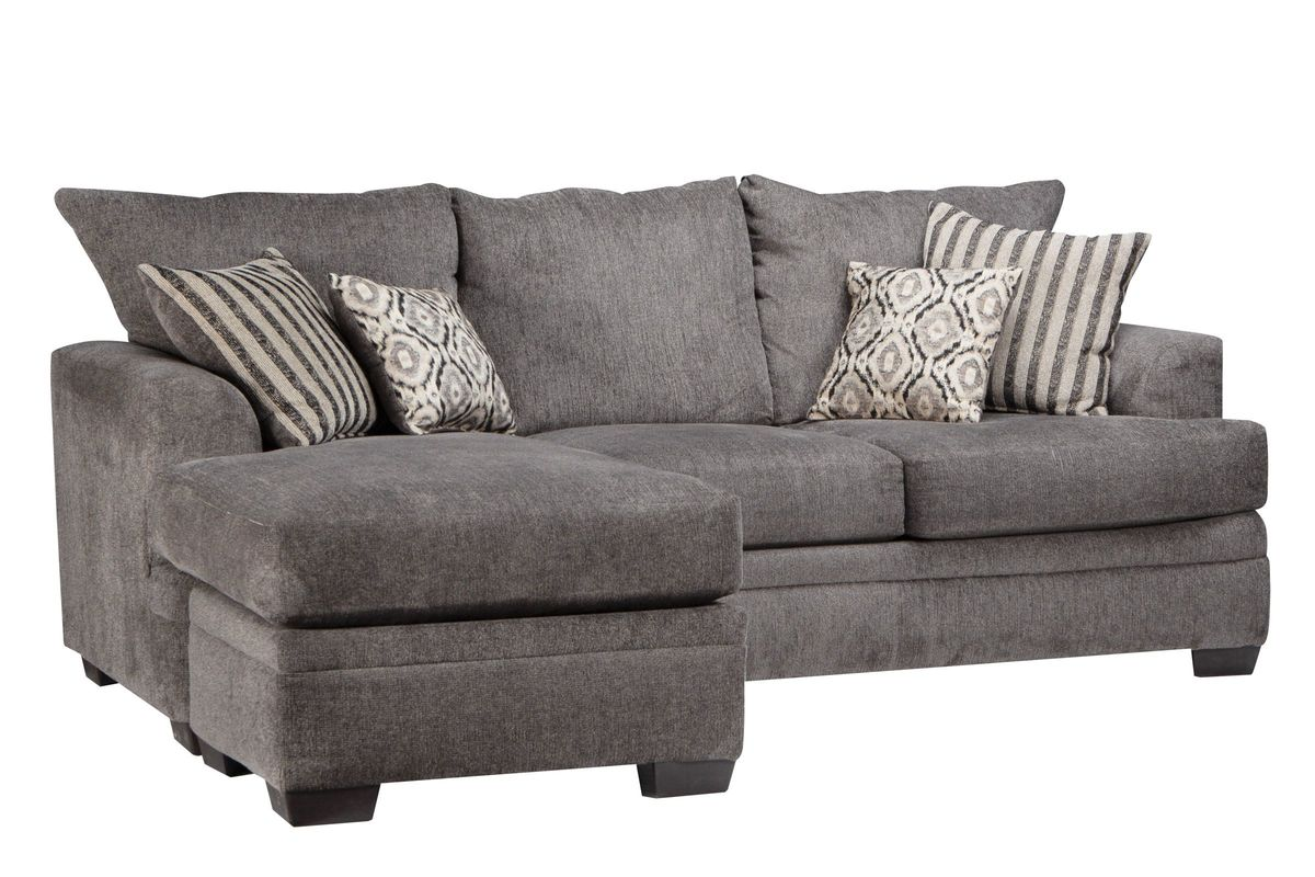 Lynwood Chenille Sectional With Moveable Chaise