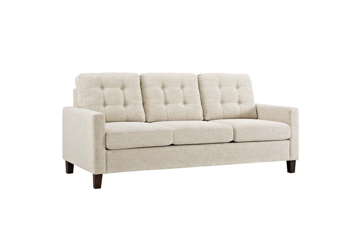 Alcove Sleeper Sofa In Beige By Modway