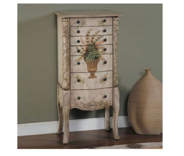Masterpiece White Hand Painted Jewelry Armoire From Gardner White Furniture