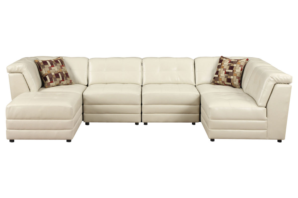 Calisto 7 Piece Bonded Leather Sectional At Gardner White