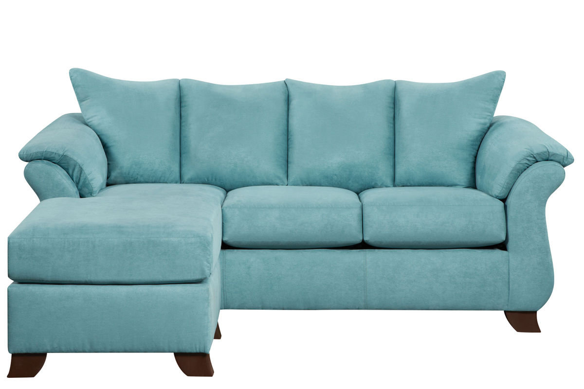 Taffy Microfiber Sofa With Floating Ottoman At Gardner White