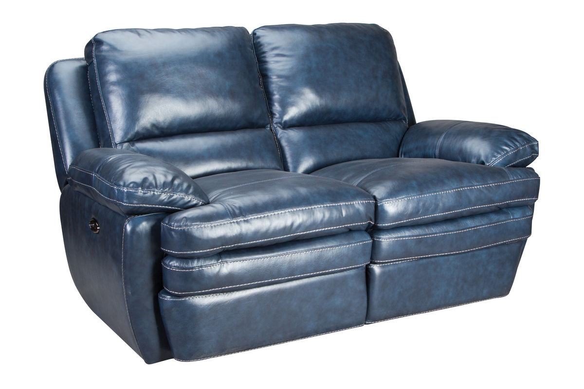 Mazarine Power Reclining Leather Sofa Loveseat At