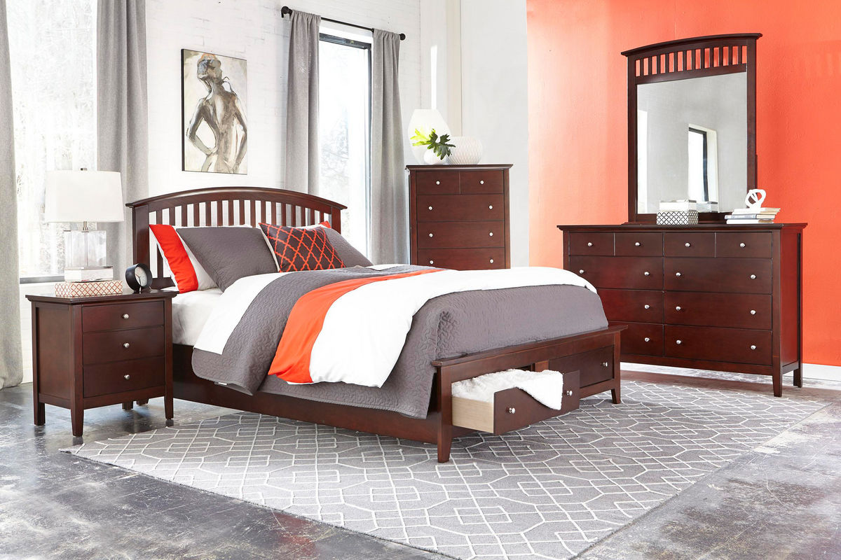 English dovetail joints set the drawers up well for regular use. Mason 5-Piece Queen Bedroom Set at Gardner-White
