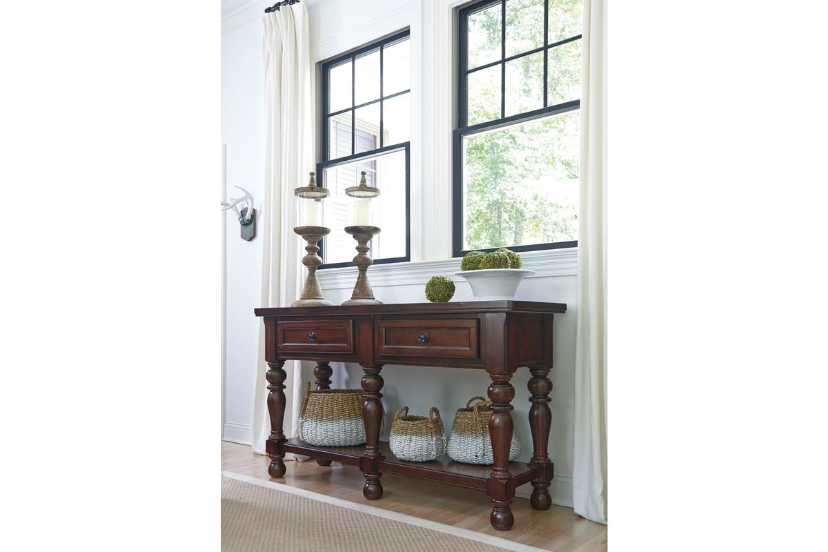Porter Dining Room Server In Rustic Brown By Ashley At