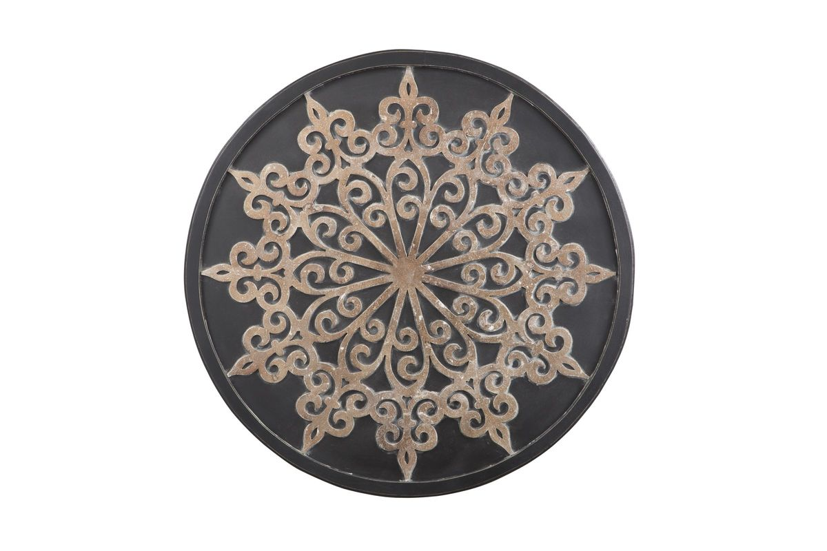 Oenomaus Wall Decor In Black Silver And Gold Finish By Ashley