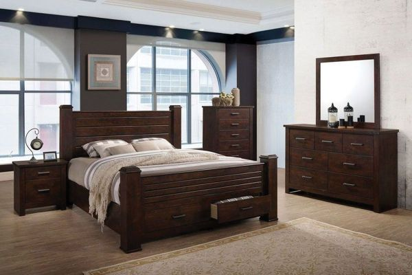 "Archer 5-Piece Queen Bedroom Set with 32"" LED-TV at ..."