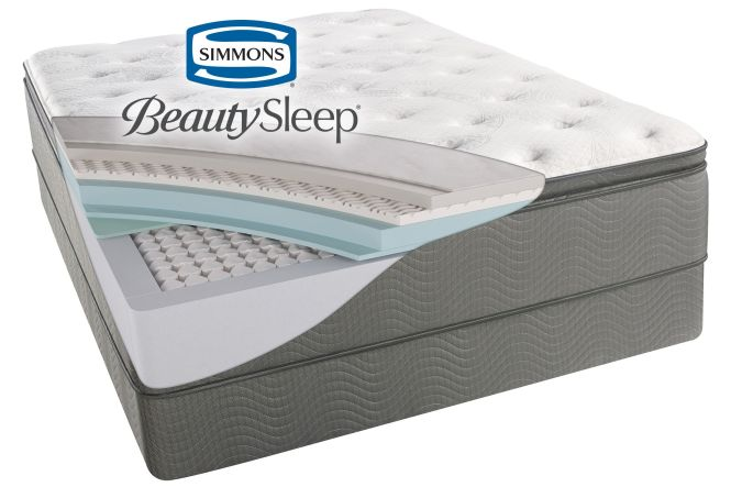 Free Boxspring Simmons Beautysleep Sun Valley Plush Pillow Top Queen Mattress Now 729 99 656 We Pay Your Tax