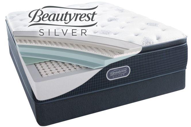 Beautyrest Silver Open Seas Plush Pillow Top King Mattress From Gardner White