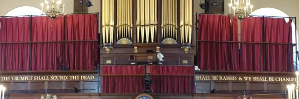 The organ loft at St. Paul's Covent Garden, London