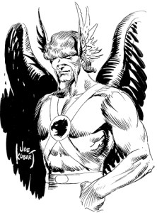 joe kubert hawkman drawing pen ink golden age comic book