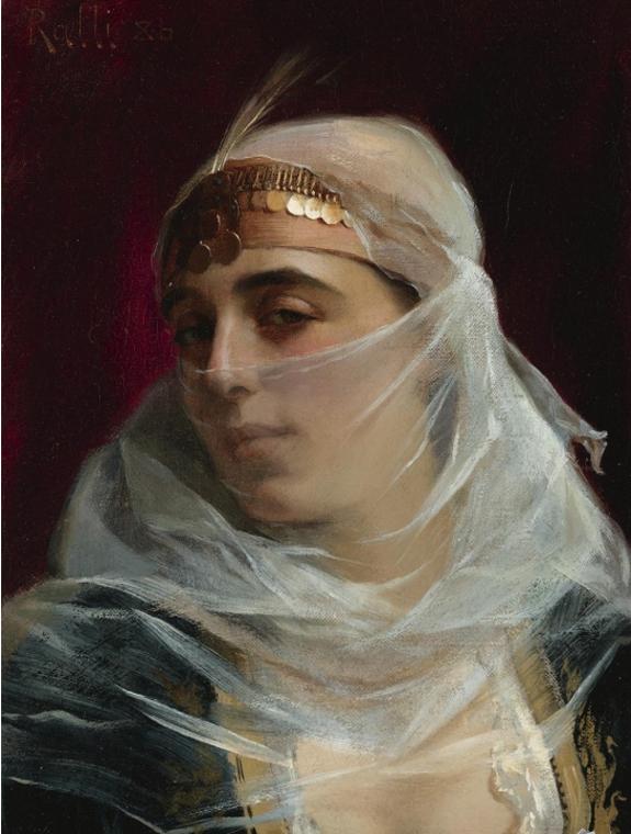 veiled harem woman Orientalist painters like Jean-Léon Gérôme