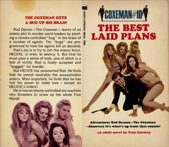 original Coxeman Best Laid Plan Troy Conway Gardner F Fox scratchboard cover art Kurt Brugel espionage secret agent