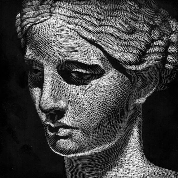 original Kevin Mathews Helen of Troy Gardner F Fox scratchboard cover art Kurt Brugel historical Greek tragedy fiction