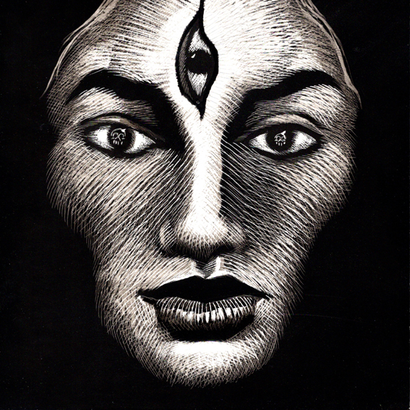 Woman of Kali Gardner F Fox scratchboard cover art Kurt Brugel historical fiction East India ruled by the British and French