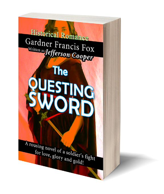 old version questing sword jefferson cooper gardner f fox scratchboard cover art kurt brugel historical fiction