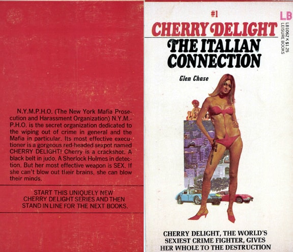 The original front and back cover for glen chase's Italian Connection gardner f fox