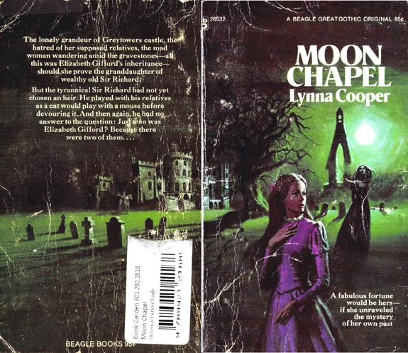 original fronat and back covers of Moon Chapel Lynna Cooper Gardner F Fox