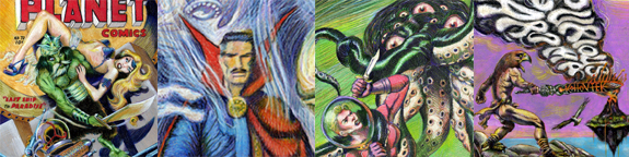 retro fantasy comic book art by Kurt Brugel