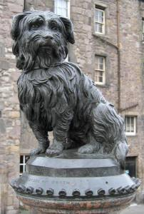 Greyfriars Bobby was a Skye Terrier who became known in 19th-century Edinburgh for supposedly spending 14 years guarding the grave of his owner until he died himself on 14 January 1872.