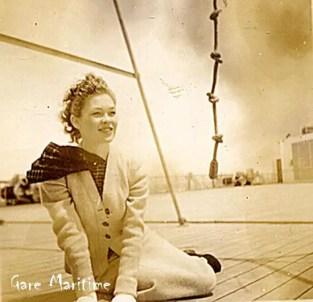 Posing on deck