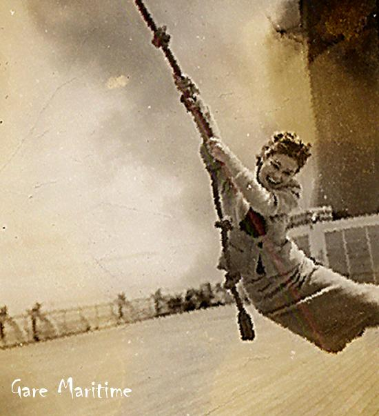 Swinging on the deck