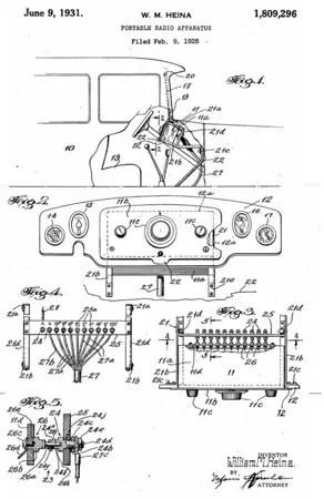 Car radio patent