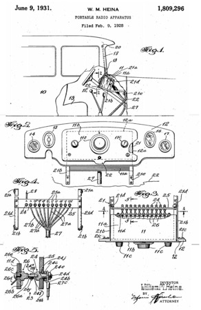 Car radio patent