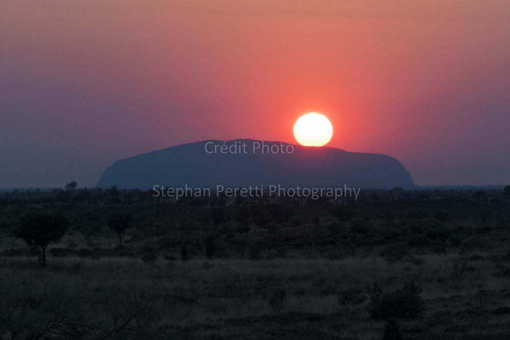 Coucher de soleil sur Uluru, Australie