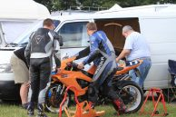 A Small weep of oil meaning running repairs to the GSXR