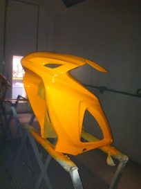 Spraying of the new fairing