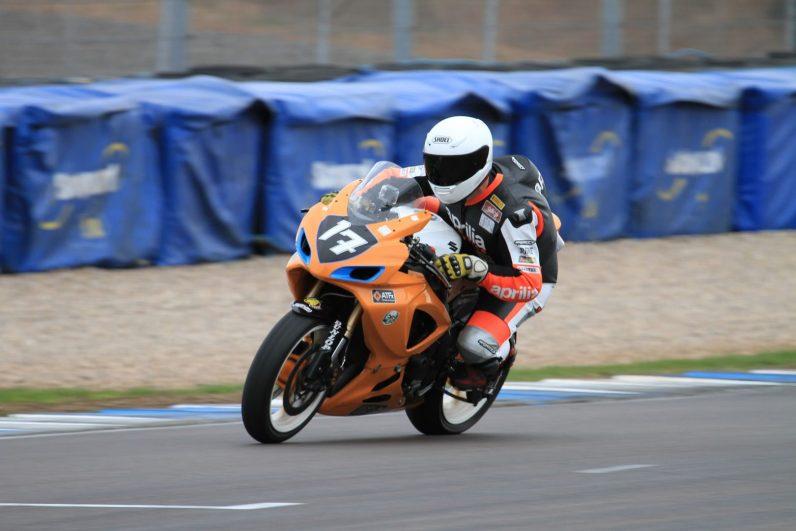 Garf NGRRC Donington 2013 Exit onto Start Finish Straight