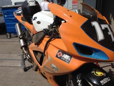 Damaged Suzuki