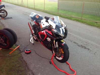 At the end of Thruxton