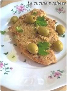 Pollo con patè olive verdi - la cucina pugliese