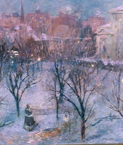 Bryant Park (Twilight) by Gari Melchers, view from his first and lower level Bryant Park studio