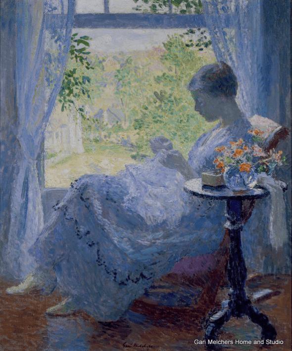 Young Woman Sewing, circa 1919, GMHS