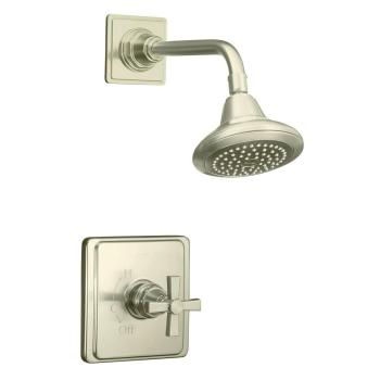 Kohler Pinstripe Pressure-Balancing Shower Faucet Trim Vibrant Brushed Nickel