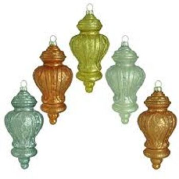 Holiday Shimmer Finial Glass Ornament (15-Count)