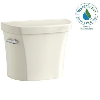 KOHLER Wellworth 1.6 GPF Single Flush Toilet Tank Only in Beige K-4468-96